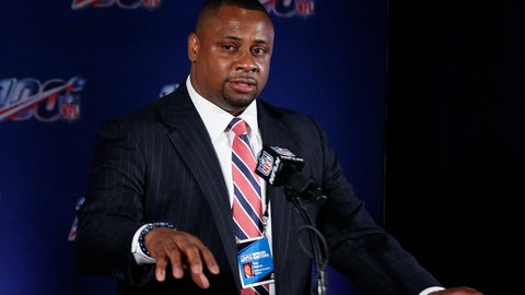 <p>               FILE - In this May 22, 2019, file photo, Troy Vincent, NFL executive vice president, speaks to the media during the owners meetings in Key Biscayne, Fla. Vincent, a former Buffalo Bills safety, was honored by the Niagara Frontier YWCA for his extensive work advocating against domestic violence and sexual assault. Vincent was presented with the association's 2019 Hero Award at a banquet in Niagara Falls, N.Y., on Tuesday. (AP Photo/Brynn Anderson, File)             </p>