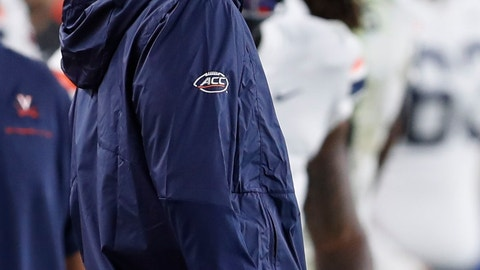<p>               Virginia head coach Bronco Mendenhall watches as his team plays against Pittsburgh n the second half of an NCAA college football game, Saturday, Aug. 31, 2019, in Pittsburgh. (AP Photo/Keith Srakocic)             </p>
