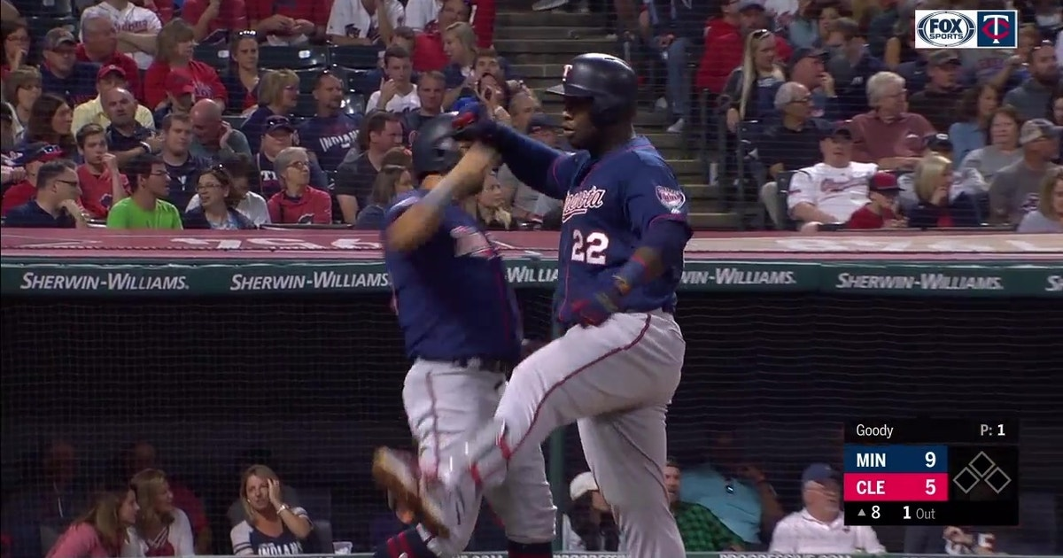 WATCH: Miguel Sano hammers first career grand slam in Cleveland
