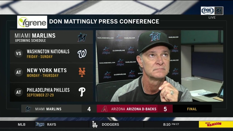 Don Mattingly breaks down Marlins' series loss to Diamondbacks