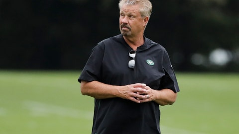 <p>               FILE - In this Aug. 21, 2019, file photo, New York Jets defensive coordinator Gregg Williams watches as players take part in drills at the team's NFL football training facility in Florham Park, N.J. Williams is fired up about the guys on his defense whose job is to make quarterbacks downright uncomfortable. (AP Photo/Frank Franklin II, File)             </p>