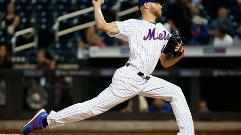 <p>               New York Mets starting pitcher Zack Wheeler winds up during the first inning of the team's baseball game against the Arizona Diamondbacks, Tuesday, Sept. 10, 2019, in New York. (AP Photo/Kathy Willens)             </p>