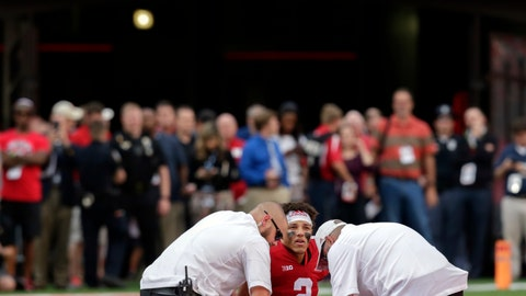 <p>               FILE - In this Sept. 8, 2018, file photo, trainers examine injured Nebraska quarterback Adrian Martinez (2) during the second half of an NCAA college football game against Colorado in Lincoln, Neb. Nebraska has circled this week's game against Colorado on the schedule, and not just because the teams are former Big Eight/Big 12 rivals. The Cornhuskers are looking to avenge last year's loss, when they squandered a second-half lead and the Buffaloes injured Adrian Martinez. (AP Photo/Nati Harnik, File)             </p>