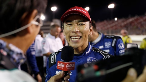 <p>               FILE - In a Saturday, Aug. 24, 2019 file photo, Takuma Sato smiles as he is interviewed after winning the IndyCar auto race at World Wide Technology Raceway in Madison, Ill. Takuma Sato will return to Rahal Letterman Lanigan Racing next season. Rahal said Saturday, Sept. 21, 2019 it had picked up the option for next year on Sato(AP Photo/Jeff Roberson, File)             </p>