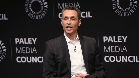 <p>               In this photo provided by Starpix, James Pitaro speaks at the Paley Center for Media in New York, Thursday, Sept. 12, 2019. ESPN President Jimmy Pitaro expects competition from Silicon Valley when the NFL's television contracts come up for renewal. The cable network's $15.2 billion, eight-year contract with the league for Monday night games runs through 2021. CBS, NBC and Fox and NBC have deals with the NFL that extend to 2022. Amazon, Google and Facebook could be among the bidders. (Patrick Huban/Starpix via AP)             </p>