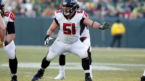 <p>               FILE - In this Dec. 9, 2018, file photo, Atlanta Falcons center Alex Mack (51) sets to block against the Green Bay Packers during an NFL football game in Green Bay, Wis. Pro Bowl center Alex Mack liked how the Falcons' offensive line overcame injuries to produce a better effort in the second game. Now the challenge comes in being successful consistently as the Falcons prepare to visit Indianapolis. (AP Photo/Jeff Haynes, File)             </p>
