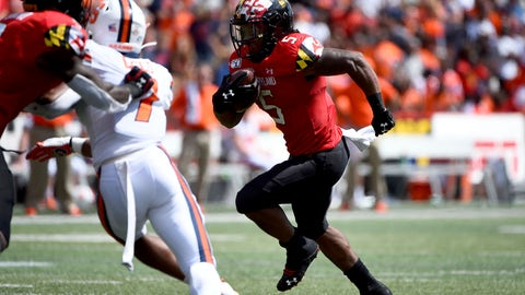 <p>               Maryland running back Anthony McFarland Jr. (5) runs the ball for a touchdown during the first half of an NCAA college football game against Syracuse, Saturday, Sept. 7, 2019, in College Park, Md. (AP Photo/Will Newton)             </p>