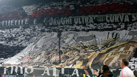 "<p>               FILE - In this Feb. 23, 2016 file photo, Juventus fans unveil a giant banner prior to the Champions League, round of 16, first-leg soccer match between Juventus and Bayern Munich at the Juventus stadium in Turin, Italy. On Monday, Sept. 16, 2019 said they have arrested 12 hard-core Juventus ""ultra"" fan leaders for a series of accusations, including making illegal demands to the club in order to obtain more tickets. (AP Photo/Luca Bruno, files)             </p>"