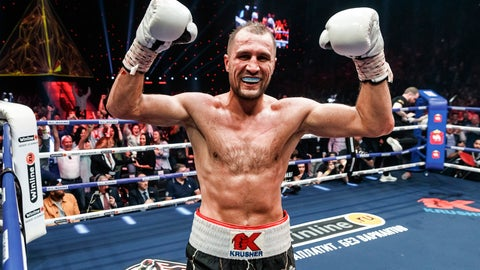 <p>               FILE - In this Saturday, Aug. 24, 2109 file photo, Sergey Kovalev of Russia celebrates after defeating Anthony Yarde of Britain during their WBO light heavyweight title bout in Chelyabinsk, Russia. Sergey Kovalev will fight Canelo Alvarez, Saturday, Nov. 2, 2019 at the MGM Grand in Las Vegas. (AP Photo/Anton Basanaev, File)             </p>