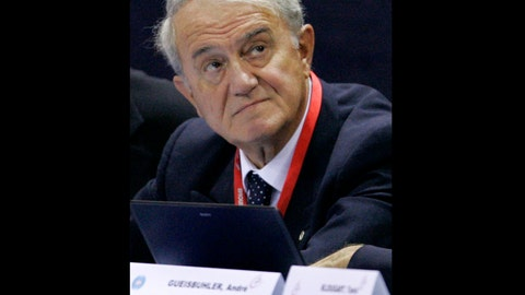 "<p>               FILE - In this Tuesday Oct. 17, 2006 file photo, International Gymnastics Federation president Bruno Grandi attends the men's team final at the Gymnastics World Championships at the NRGi Arena in Aarhus, Denmark. Bruno Grandi, the longtime president of gymnastics' world governing body who oversaw changing the ""perfect 10"" scoring system, had died. He was 85. The International Gymnastics Federation (FIG) says Grandi, its leader from 1997 to 2016, died Friday Sept. 13, 2019, in Italy after an unspecified illness. (AP Photo/Matt Dunham, File)             </p>"