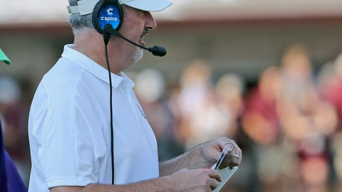 <p>               Mississippi State head coach Joe Moorhead watches the game against Southern Miss. from the sideline during the second half of an NCAA college football game Saturday, Sept. 7, 2019, in Starkville, Miss. (AP Photo/Jim Lytle)             </p>