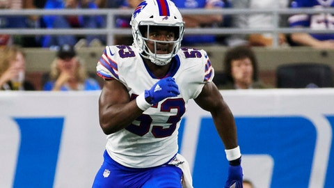 <p>               FILE - In this Aug. 23, 2019, file photo, Buffalo Bills linebacker Tyrel Dodson (53) plays against the Detroit Lions during an NFL preseason football game in Detroit.  The NFL has suspended Buffalo Bills rookie linebacker Tyrel Dodson for six games as a result of an alleged altercation with his girlfriend at her home in Scottsdale, Arizona. Dodson was suspended for violating the league's personal conduct policy Thursday, Sept. 12, 2019, a day after the player reached an agreement with prosecutors to defer a domestic violence charge of disorderly conduct-disruptive behavior-fighting. (AP Photo/Rick Osentoski, File)             </p>