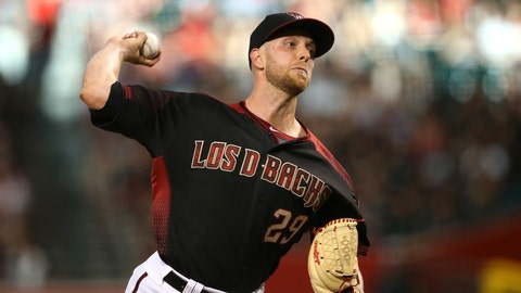 <p>               Arizona Diamondbacks starting pitcher Merrill Kelly throws a pitch against the Cincinnati Reds during the first inning of a baseball game, Saturday, Sept. 14, 2019, in Phoenix. (AP Photo/Ross D. Franklin)             </p>