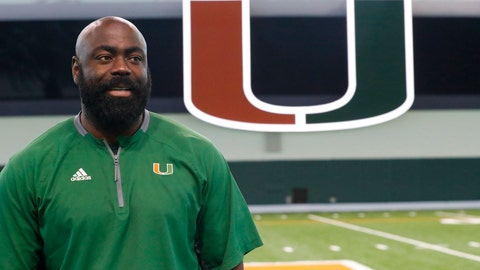 <p>               In this Aug. 13, 2019, photo, Edwin Pata, assistant director of recruiting for Miami, poses for a photo during the team's media day in Coral Gables, Fla. Pata's job is to convince top high school football players that Miami is the best possible place for them to attend college. He does it to preserve his brother's legacy. Pata is the brother of Bryan Pata, the Miami defensive lineman who was shot and killed in November 2006. (AP Photo/Wilfredo Lee)             </p>
