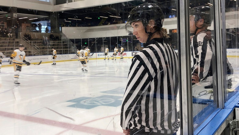 Only on AP: Welsh excited as 1 of NHL's 1st female officials