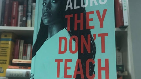 """<p>               The front cover of the autobiography written by English soccer player Eniola Aluko , London, England. Friday, Sept. 13, 2019. Soccer star Eni Aluko is condemning Amazon for not removing racist reviews of her memoir posted on the online retailer's web site. Of the 31 reviews on Amazon, 27 gave """"They Don't Teach This,"""" which details the discrimination Aluko faced during her England career, a one-star rating. Readers have used the platform to call the book """"fiction,"""" """"anti-white racist drivel"""" and accuse the Juventus forward of choosing to """"play the race card"""" and """"coming across as a racist herself.""""  (Rob Harris/AP)             </p>"""