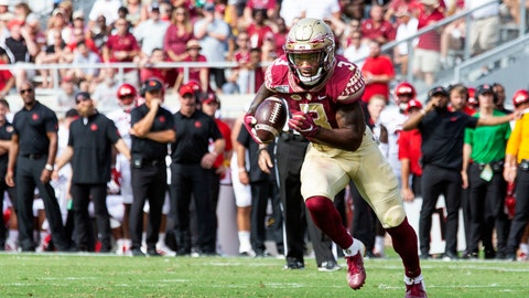 <p>               FILE - In this Sept. 21, 2019, file photo, Florida State running back Cam Akers (3) heads toward the goal line in the first half of an NCAA college football game against Louisville, in Tallahassee, Fla. Akers is coming off a grinding 112 yards and three touchdowns in a victory against Louisville. North Carolina State comes to Tallahassee on Saturday, (AP Photo/Mark Wallheiser, File)             </p>