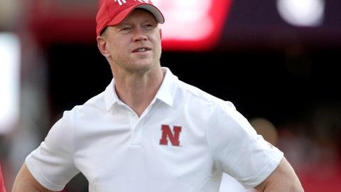 <p>               Nebraska head coach Scott Frost follows warmups before an NCAA college football game against Northern Illinois in Lincoln, Neb., Saturday, Sept. 14, 2019. (AP Photo/Nati Harnik)             </p>