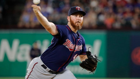 <p>               FILE - In this  Friday, Aug. 16, 2019 file photo, Minnesota Twins relief pitcher Sam Dyson throws to the Texas Rangers in the seventh inning of a baseball game in Arlington, Texas. Minnesota reliever Sam Dyson had surgery on his shoulder, ending the right-hander's season and potentially putting 2020 in jeopardy as well. Dyson had the capsule repair operation Tuesday, Sept. 24, 2019 in California. (AP Photo/Tony Gutierrez, File)             </p>