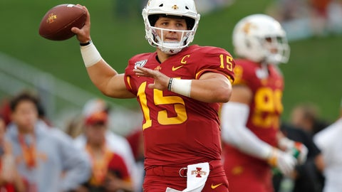 <p>               RETRANSMISSION TO CORRECT DATE - Iowa State quarterback Brock Purdy warms up before an NCAA college football game against Louisiana-Monroe, Saturday, Sept. 21, 2019 in Ames, Iowa. (AP Photo/Matthew Putney)             </p>