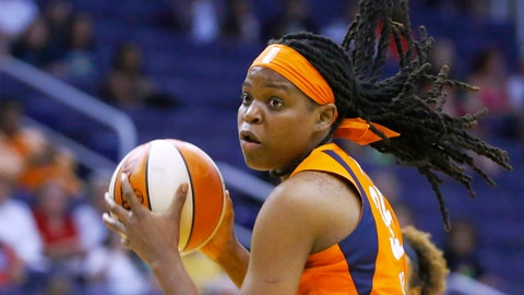 <p>               FILE - In this Aug. 14, 2019, file photo, Connecticut Sun forward Jonquel Jones grabs a rebound against the Phoenix Mercury during the second half of a WNBA basketball game in Phoenix.  Jones has set up a page on the crowdfunding site GoFundMe , hoping to raise $50,000 for her native Bahamas after the destruction from Hurricane Dorian. (AP Photo/Ross D. Franklin, File)             </p>