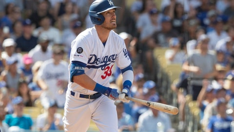 <p>               Los Angeles Dodgers' Cody Bellinger watches his grand slam against the Colorado Rockies during the fifth inning of a baseball game in Los Angeles, Sunday, Sept. 22, 2019. (AP Photo/Sam Gangwer )             </p>