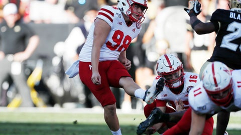 <p>               Nebraska place kicker Isaac Armstrong kicks but misses with his field goal attempt to tie the score in overtime of an NCAA college football game against Colorado Saturday, Sept. 7, 2019, in Boulder, Colo. Colorado won 34-31 in overtime. (AP Photo/David Zalubowski)             </p>