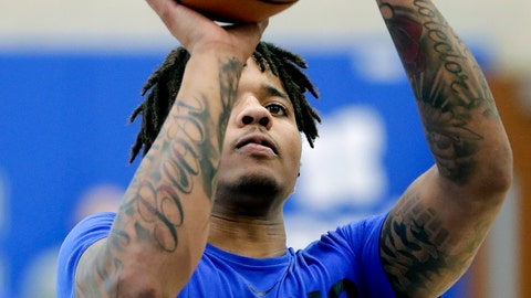 <p>               Orlando Magic guard Markelle Fultz shoots free throws during a voluntary NBA basketball workout at the teams practice facility, Wednesday, Sept. 25, 2019, in Orlando, Fla. (AP Photo/John Raoux)             </p>