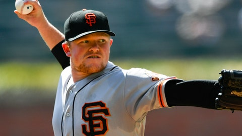 <p>               San Francisco Giants' Logan Webb pitches against the Atlanta Braves during the first inning of a baseball game Sunday, Sept. 22, 2019, in Atlanta. (AP Photo/John Amis)             </p>