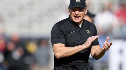 <p>               FILE - In this Dec. 22, 2018, file photo, Army head coach Jeff Monken watches as his team warms up before they play Houston in the Armed Forces Bowl NCAA college football game, in Fort Worth, Texas. Army looks to bounce back from a tough overtime loss to Michigan when the Black Knights take on UT-San Antonio, Saturday, Sept. 14, 2019. (AP Photo/Jim Cowsert, File)             </p>
