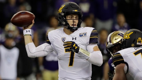 <p>               California quarterback Chase Garbers passes against Washington during the first half of an NCAA college football game, Saturday, Sept. 7, 2019, in Seattle. (AP Photo/Ted S. Warren)             </p>