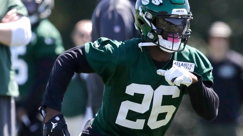 <p>               FILE - In this June 4, 2019, file photo, New York Jets running back Le'Veon Bell runs a drill at the team's NFL football training facility in Florham Park, N.J. The New York Jets made lots of major changes in the offseason. The Buffalo Bills did, too. The AFC East rivals are looking for much better results this season _ starting with Sunday's opening game at MetLife Stadium. (AP Photo/Julio Cortez, File)             </p>