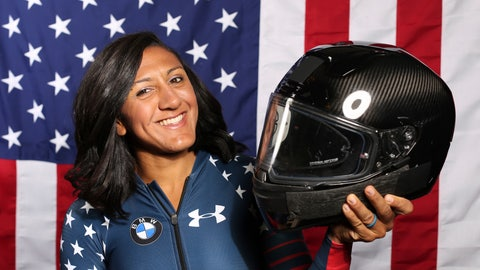 <p>               FILE - In this Monday, Sept. 25, 2017 file photo, United States Olympic Winter Games bobsledder Elana Meyers Taylor poses for a portrait at the 2017 Team USA Media Summit in Park City, Utah. U.S. bobsledder Elana Meyers Taylor is pregnant and won't compete this season, though she intends to return in a year and prepare for the 2022 Beijing Olympics. Meyers Taylor and her husband, fellow U.S. bobsledder Nic Taylor, announced Wednesday, Sept. 18, 2019 they are expecting their first child in March. (AP Photo/Rick Bowmer, File)             </p>