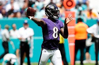 Jackson's 5 TD passes help Ravens drub Dolphins 59-10