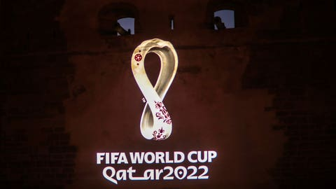 <p>               The landmark Kasbah of Oudayas is illuminated by the emblem of Qatar World Cup 2022, in Rabat, Morocco, Tuesday, Sept. 3, 2019. (AP Photo/Mosa'ab Elshamy)             </p>