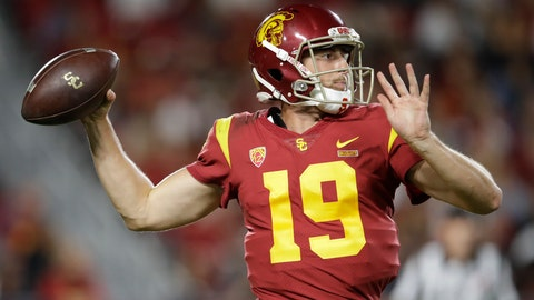 <p>               Southern California quarterback Matt Fink throws against Utah during the second half of an NCAA college football game Friday, Sept. 20, 2019, in Los Angeles. (AP Photo/Marcio Jose Sanchez)             </p>