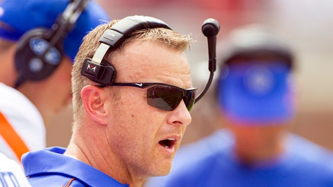 <p>               Boise State head coach Bryan Harsin watches in the first half of an NCAA college football game against Florida State in Tallahassee, Fla., Saturday, Aug. 31, 2019. (AP Photo/Mark Wallheiser)             </p>
