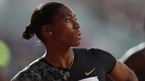 <p>               FILE - In a Friday, May 3, 2019 file photo, South Africa's Caster Semenya competes in the women's 800-meter final during the Diamond League in Doha, Qatar. On the 10th anniversary of Semenya blowing away the field in the 800 at the 2009 World Championships in Berlin, she won't comply with the International Association of Athletics Federations' latest version of a regulation to lower her level of natural testosterone.(AP Photo/Kamran Jebreili, File)             </p>