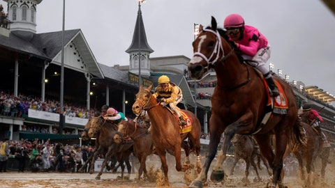 <p>               FILE - In this May 4, 2019, file photo, jockey Flavien Prat, aboard Country House, center, looks on as jockey Luis Saez, right, aboard Maximum Security, crosses the finish line during the 145th running of the Kentucky Derby horse race at Churchill Downs in Louisville, Ky. Country House was declared the winner after Maximum Security was disqualified following a review by race stewards. The home of the Kentucky Derby wants to start offering live racing in the winter. Churchill Downs says it will seek approval from Kentucky horse racing regulators to allow the Louisville track to host live racing in the winter of 2020. (AP Photo/Matt Slocum, File)             </p>