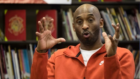 <p>               FLE - In this March 21, 2019, file photo, Kobe Bryant speaks with students at Andrew Hamilton School in Philadelphia. Kobe Bryant played on the Redeem Team in 2008, the one that delivered a gold medal in Beijing after a series of USA Basketball disappointments in big tournaments. Back in Beijing this weekend, Bryant isn't sure another Redeem Team will be so easy to find for the U.S. (AP Photo/Matt Rourke, File)             </p>