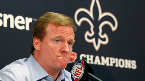 <p>               FILE - In this Aug. 2, 2010, file photo, NFL commissioner Roger Goodell speaks at a media conference at the New Orleans Saints training facility in Metairie, La. There's Spygate and deflated footballs, a bullying incident and a bounties case. Those are just a few of the biggest scandals that have plagued the NFL just in the past 15 years, excluding all the players suspended for allegations of domestic violence. (AP Photo/Gerald Herbert, File)             </p>