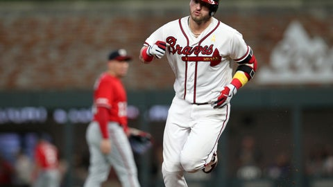<p>               Atlanta Braves Josh Donaldson runs the bases after a home run against the Washington Nationals during the fourth inning of a baseball game Saturday, Sept. 7, 2019, in Atlanta. (AP Photo/Tami Chappell)             </p>