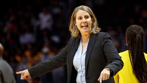 <p>               FILE - In this Sunday, Sept. 8, 2019 file photo, Minnesota Lynx's head coach Cheryl Reeve instructs her players during a WNBA basketball game against the Los Angeles Sparks in Los Angeles. Minnesota Lynx general manager and coach Cheryl Reeve has been chosen WNBA basketball executive of the year after steering the team to a ninth straight appearance in the playoffs despite losing several longtime stars, Wednesday, Sept. 18, 2019. (AP Photo/Ringo H.W. Chiu, File)             </p>