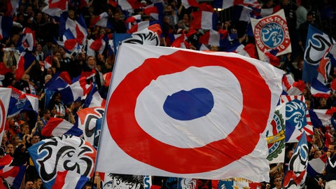 <p>               France soccer team supporters cheer ahead of the Euro 2020 group H qualifying soccer match between France and Albania at the Stade de France in Saint Denis, north of Paris, France, Saturday, Sept. 7, 2019. (AP Photo/Christophe Ena)             </p>