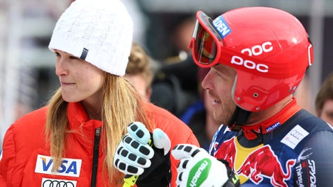 <p>               FILE - In this Jan. 23, 2014, file photo, Bode Miller talks to his wife, Morgan, in the finish area of men's skiing World Cup downhill training in Kitzbuehel, Austria. Miller is moving his family to Montana part time after a tumultuous year that included the tragic drowning of his toddler daughter. Miller says 19-month-old Emeline Miller's death made him sharpen his focus on his four other children, and with twins due this fall, he decided the time was right to head to the mountains. The family will split their time between homes in Southern California and Big Sky, Mont. (AP Photo/Giovanni Auletta, File)             </p>