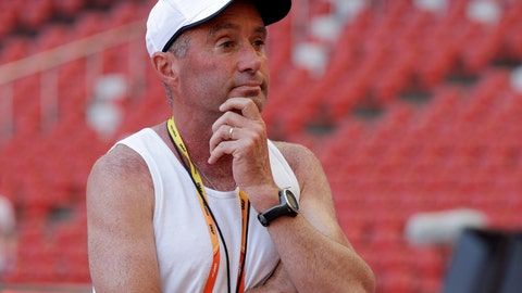 <p>               FILE - In this Aug. 21, 2015, file photo, track coach Alberto Salazar watches a training session for the upcoming World Athletic Championships at the Bird's Nest stadium in Beijing. Salazar, who trained four-time Olympic champion Mo Farah and a number of other top runners, has been given a four-year ban by the U.S. Anti-Doping Agency. USADA said in a news release Monday, Sept. 30, 2019, that Salazar and Jeffrey Brown were receiving four-year bans for, among other violations, possessing and trafficking testosterone while working at the Nike Oregon Project (NOP), where they trained top runners. (AP Photo/Kin Cheung, File)             </p>