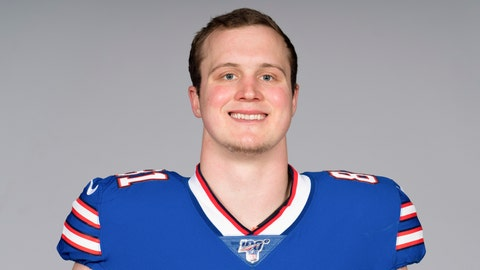 <p>               FILE - This is a 2019 file photo, showing Tyler Kroft of the Buffalo Bills NFL football team. Tight end Tyler Kroft might have more than one good reason to be looking forward to the Buffalo Bills' home opener against the Cincinnati Bengals this weekend. Not only are the Bills facing his former team, Kroft is inching closer to making his debut after missing the entire offseason recovering from a broken right foot. (AP Photo/File)             </p>