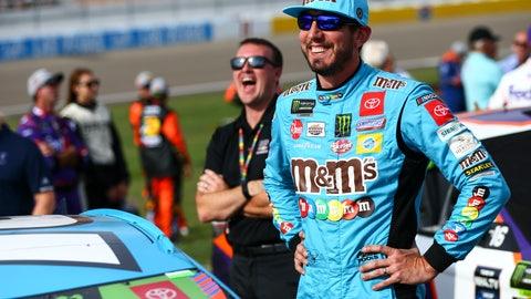 <p>               Kyle Busch prepares for a NASCAR Cup Series auto race at Las Vegas Motor Speedway, Sunday, Sept. 15, 2019. (AP Photo/Chase Stevens)             </p>