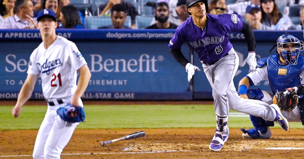 Rockies beat Dodgers 4-2 to end 12-game skid in LA | FOX Sports