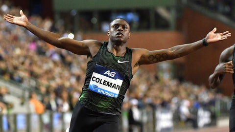 <p>               FILE - In this Aug. 31, 2018, file photo, Christian Coleman, of the United States, gestures after crossing the finish line first in the men's 100 meter competition at the Diamond League Memorial Van Damme athletics event in Brussels. The 23-year-old favorite in the 100 meters has never doped, or even been accused of doping. But since his name made the headlines for missing some tests, he finds himself part of a news cycle that he'd really like to break. His chance comes Friday, Sept. 27, 2019,  when the men line up for heats at world championships.(AP Photo/Geert Vanden Wijngaert, File)             </p>